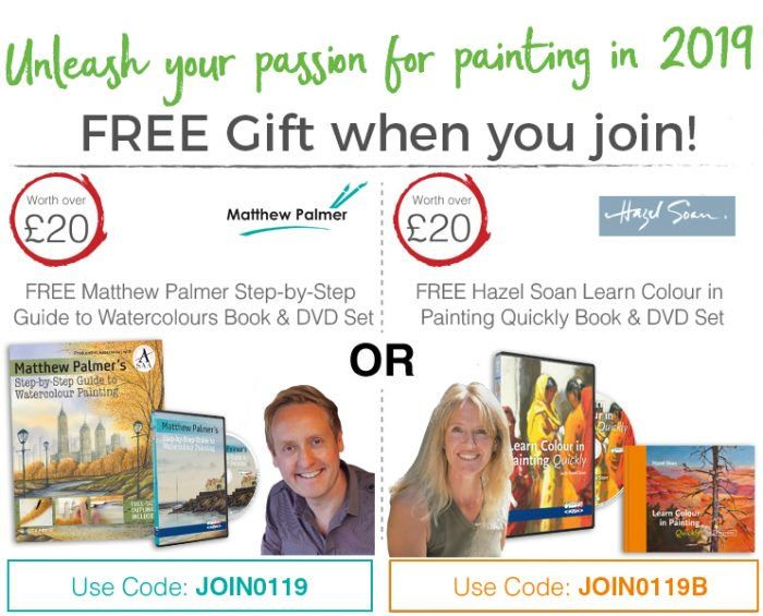 Free Hazel Soan Learn Colour in Painting Quickly Book and DVD Set at SAA
