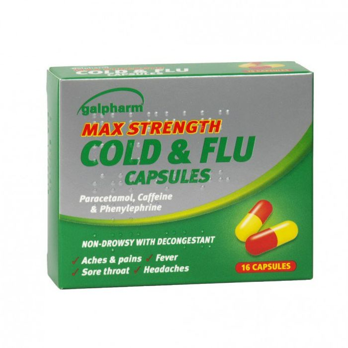 Galpharm Max Strength Cold & Flu 16 Capsules