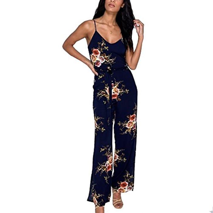 Floral Jumpsuit - HALF PRICE (Prime Delivery)