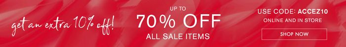 Up to 70% off Sale and Extra 10% off with Code