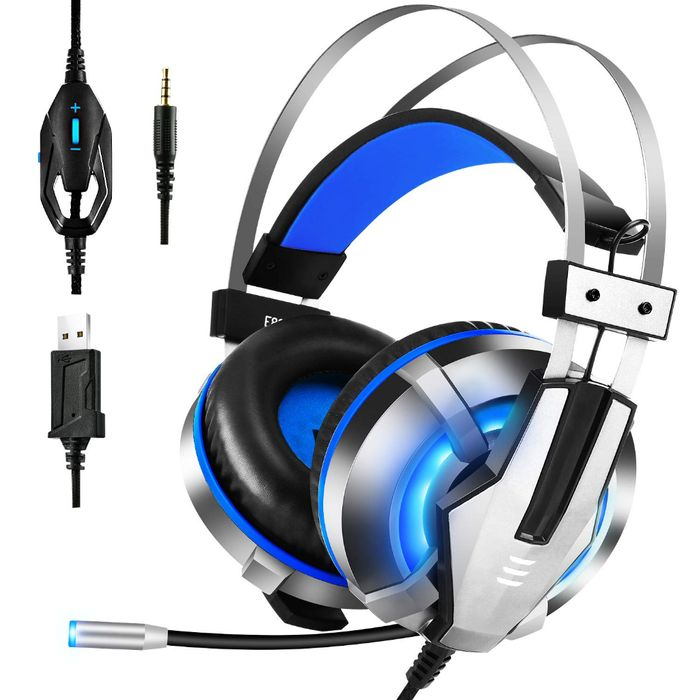 Gaming Headset for PS4, PC, Xbox One Controller over-ear headphones