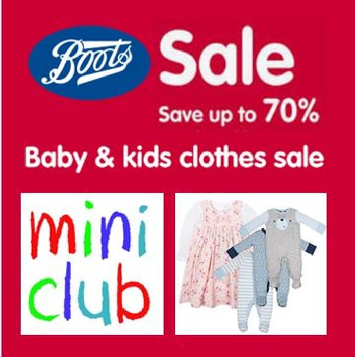 1e33dacf4384 70% OFF BOOTS Mini Club Kids Clothing - ONLINE NOW! | LatestDeals.co.uk