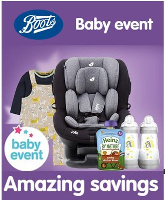 BOOTS BABY EVENT - Has Started! Wednesday 16th January