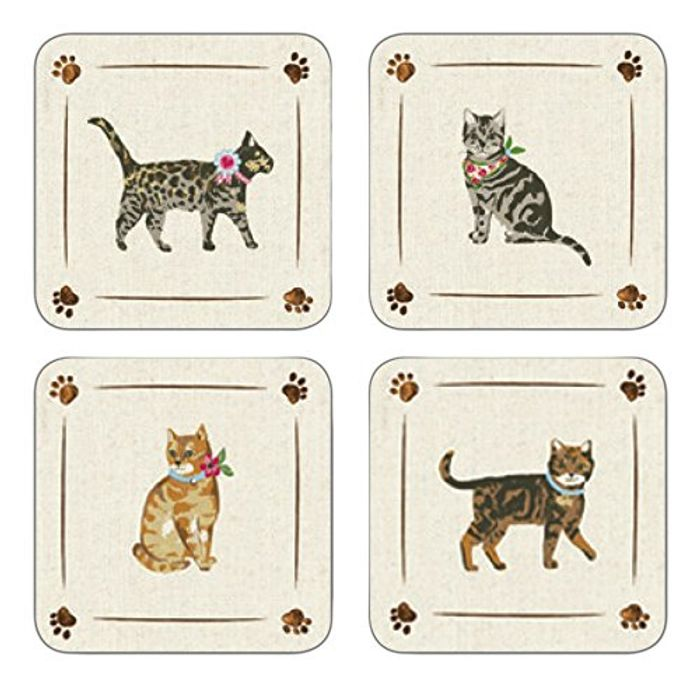 Cats on Parade Set of 4 Coasters £3.94 Inc Delivery