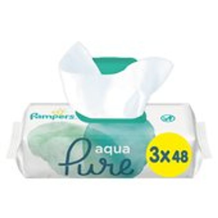 Pampers Aqua Pure Wipes 3 X 48 per Pack £3.50 at Morrisons Online and in Store