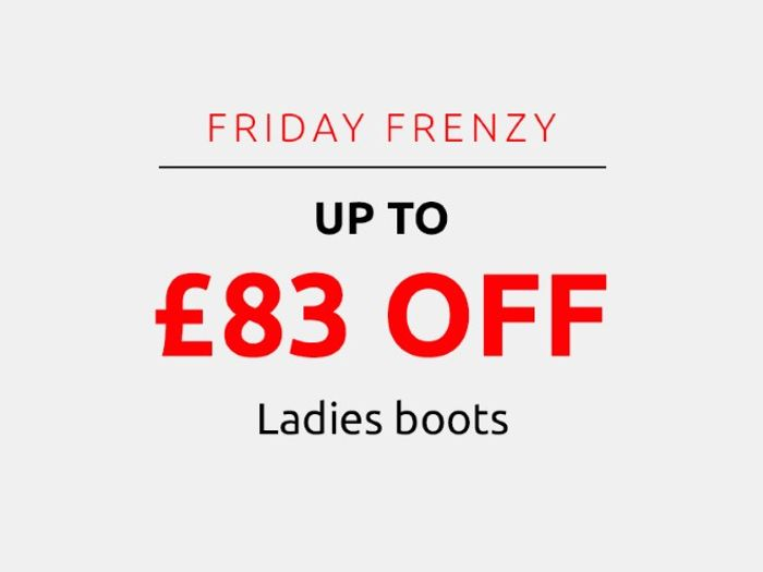 Save up to £83 on Ladies Boots | Frenzy Friday