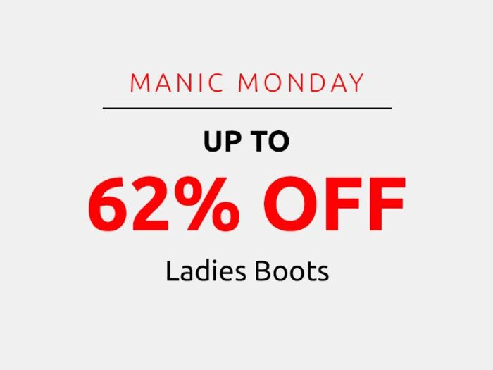 Save up to 62% on Ladies Boots | Manic Monday