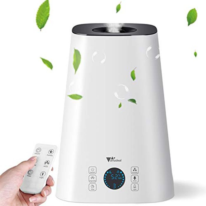 Amzdeal Humidifier - Cool Mist Humidifier 5L - Get £10 Off!
