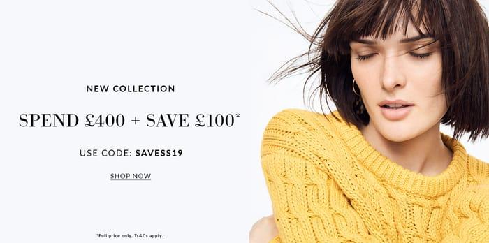 Spend £400 + save £100