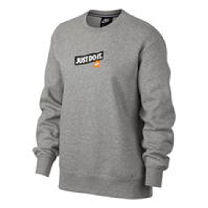 Nike Just Do It Fleece Sweatshirt Ladies d3f5c8761b