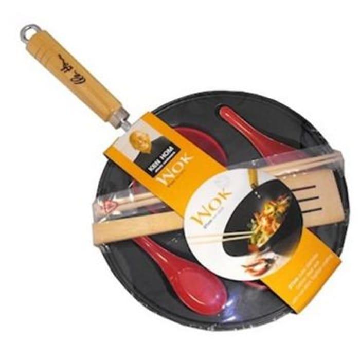 Ken Hom Ethnic Cookware 7 Piece Non-Stick Wok Set ~ 27cm