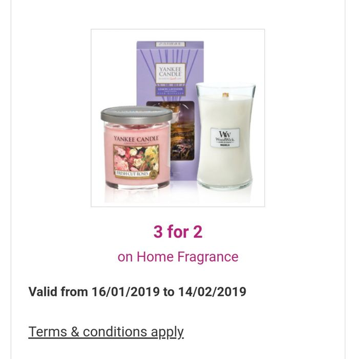 3 for 2 on Home Fragrance