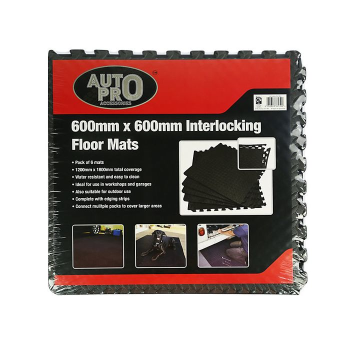 Pack 6 Interlocking Foam Mats £9 B&Q