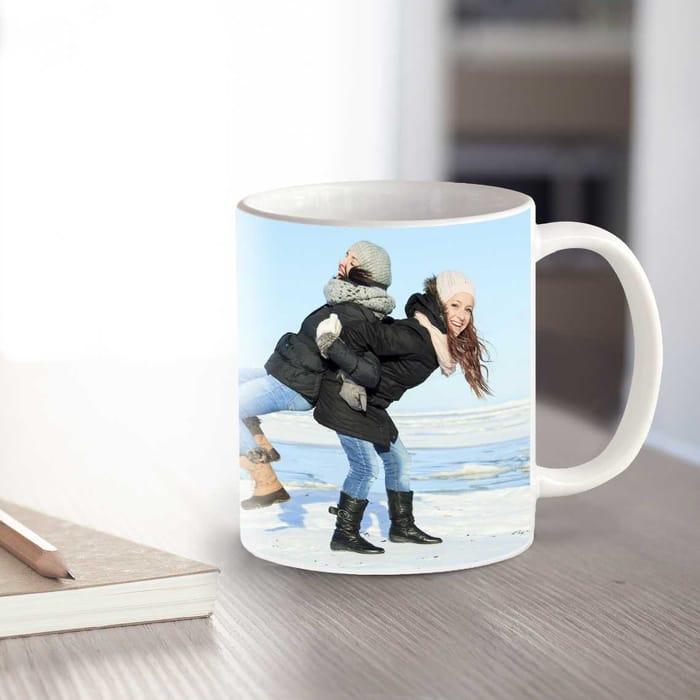White Personalised Photo Mug [ 11oz ] £3.50 Delivered W/code at Truprint