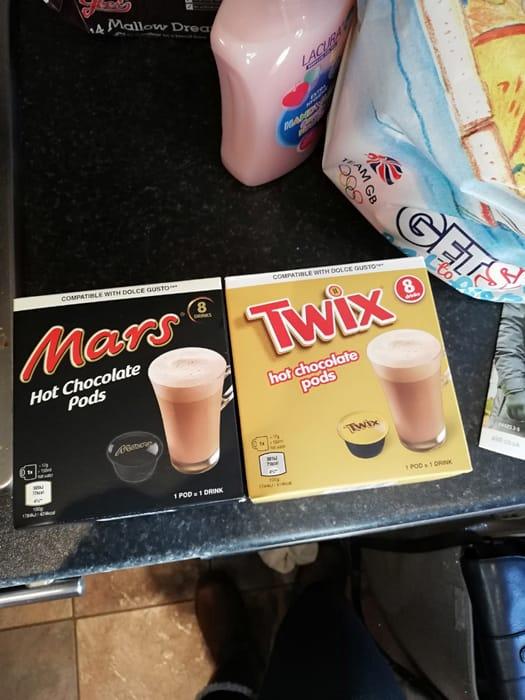 Mars Bar And Twix Hot Chocolate Pods 299 At Aldi