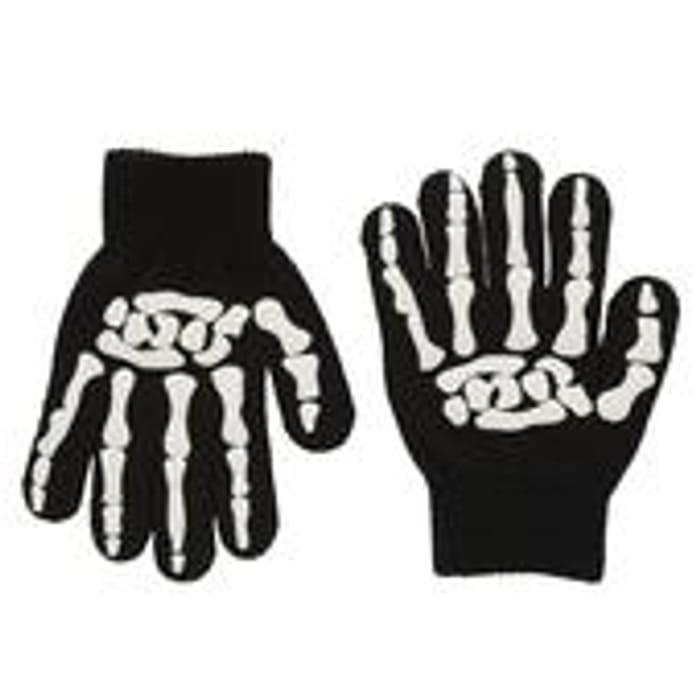 Skeleton Gloves One Size