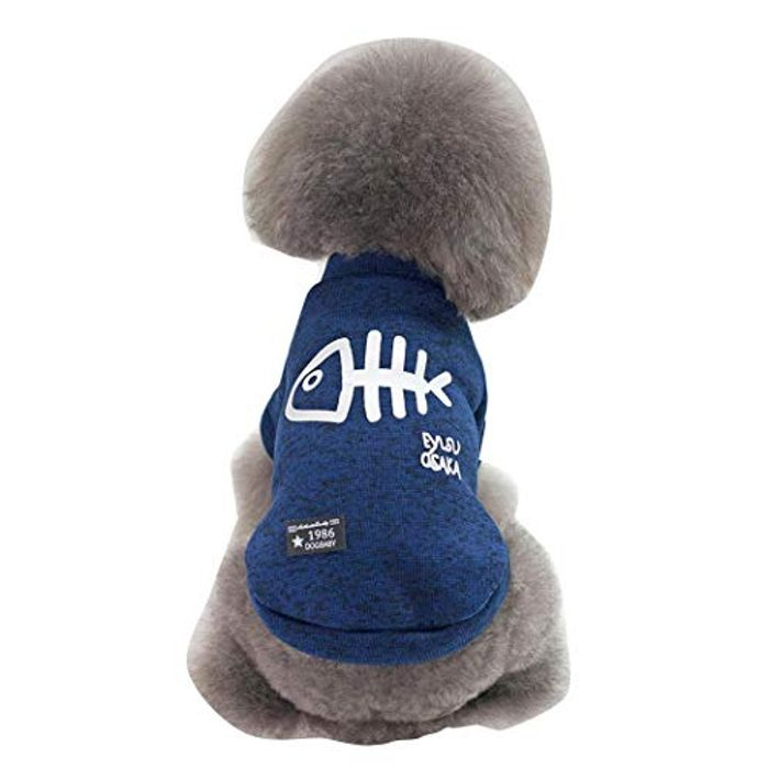 80% off Puppy Clothes Pet Casual Cotton Coat Dog Jacket Hoodies