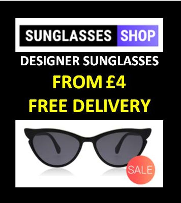 DESIGNER SUNGLASSES SALE - from £4 with FREE DELIVERY!