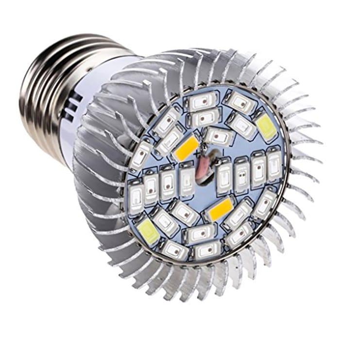Half Price LED Grow Light Bulb   8W/10W   Full Spectrum   Plant Light