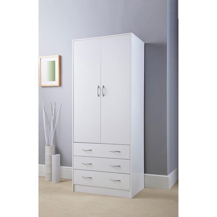 Best Price - Lokken 3 Drawer Double Wardrobe