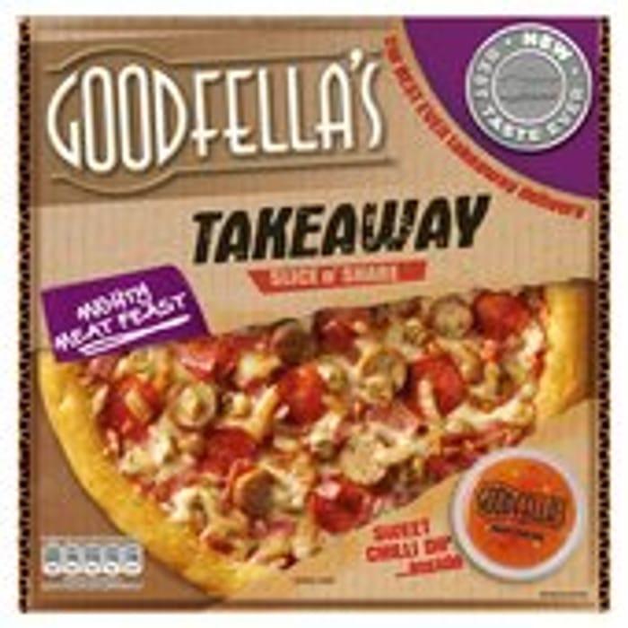 Goodfellas Takeaway Mighty Meat Feast Pizza & Sweet Chilli Dip 596g