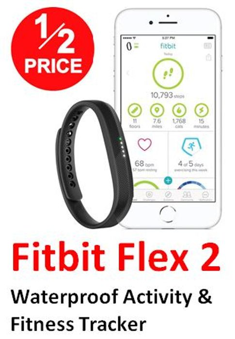 Fitbit Flex 2 Fitness Wristband HALF PRICE at AMAZON
