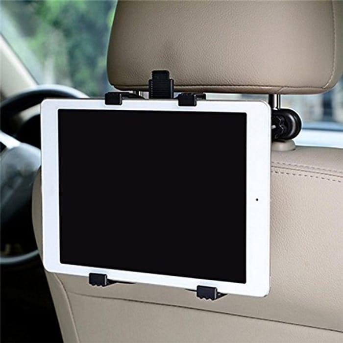 360 Rotation Adjustable Car Backrest Headrest Mount Holder for iPad