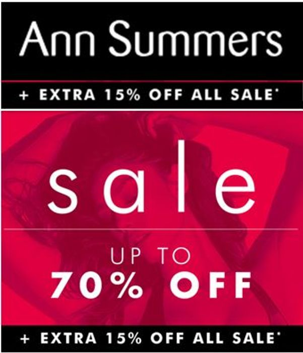 HOT DEALS! Ann Summers Sale - 70% OFF + EXTRA 15% OFF