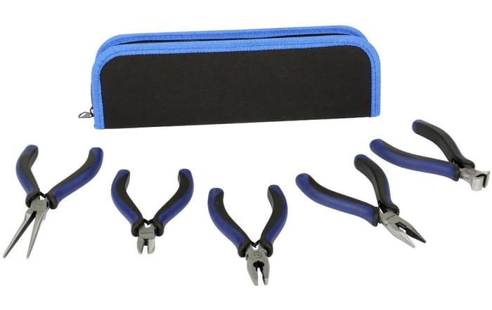 Halfords 5 Piece Mini Pliers Set with Pouch