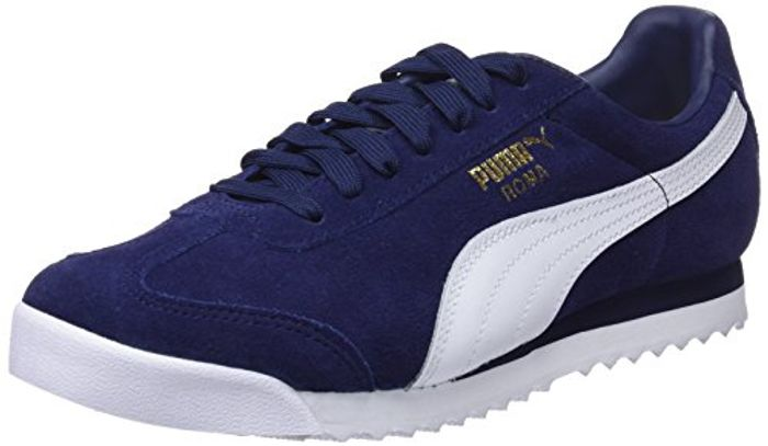 Puma Unisex Adults Roma Suede Trainers Blue Size 3.5