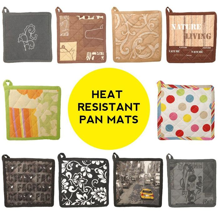 Venilia Heat Resistant Pan Mat - 100% Cotton - Various Designs
