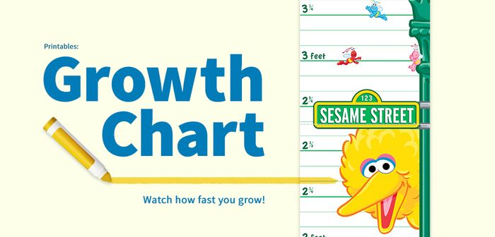 Free Sesame Street Growth Chart + Lots of Other Projects
