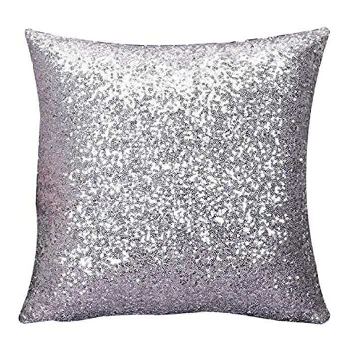 Indexp Glitter Sequins Solid Color Pillowcase **Promotion Available!!***