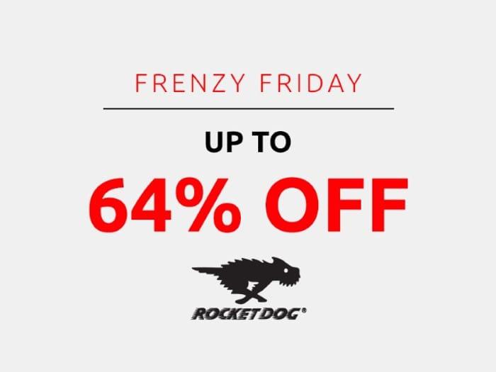 Save up to 64% on Rocket Dog | Frenzy Friday