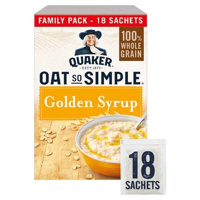 Quaker Oat so Simple Golden Syrup Porridge Sachet 18X36g