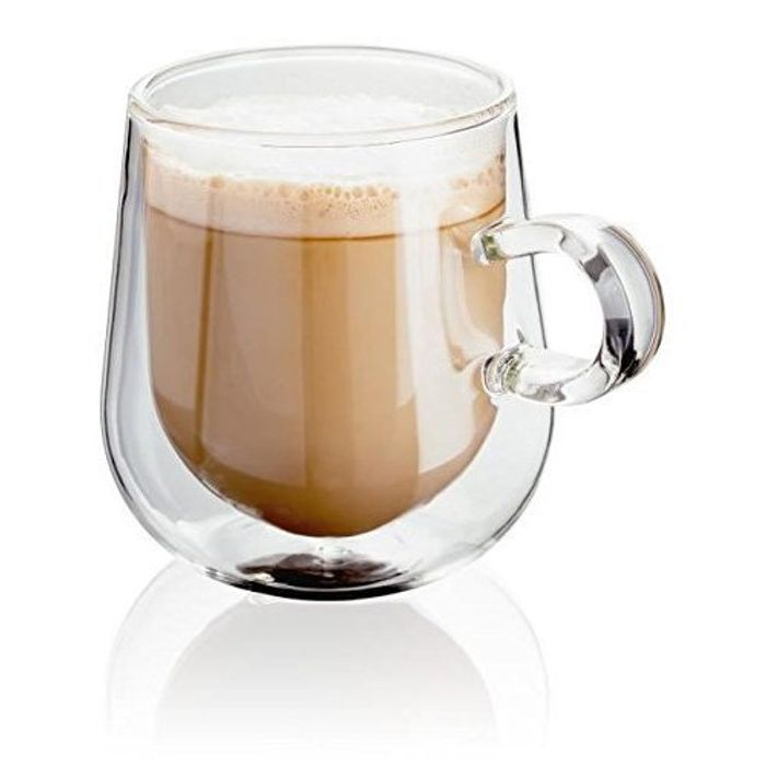 Doubled Walled Glass Latte Glasses