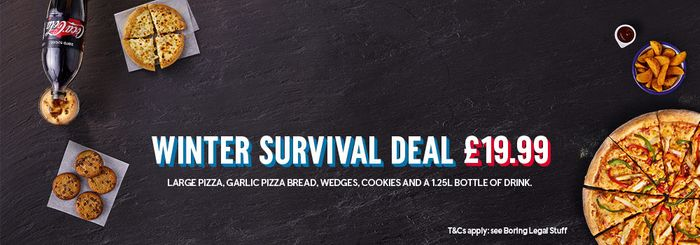 Exclusive35% offOrders over £30 at Domino's Pizza