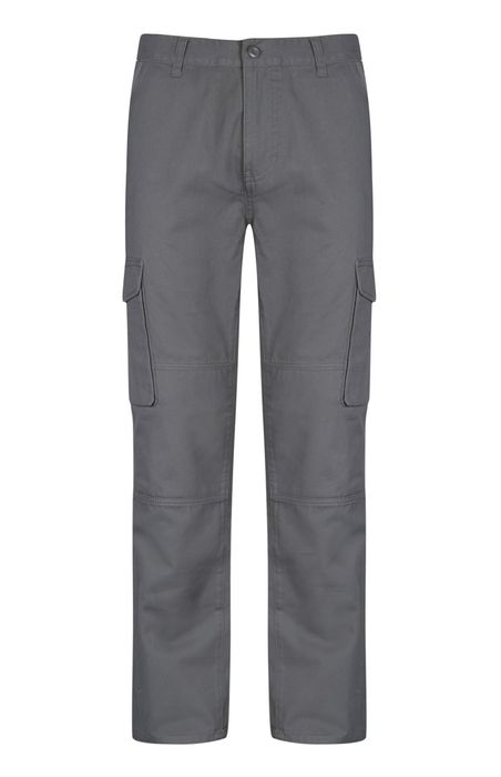 Mens Grey Cargo Trouser