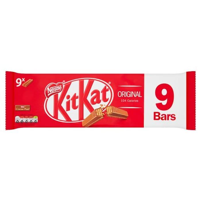 KitKat Various 2 Finger Biscuit Bars 9 Pack