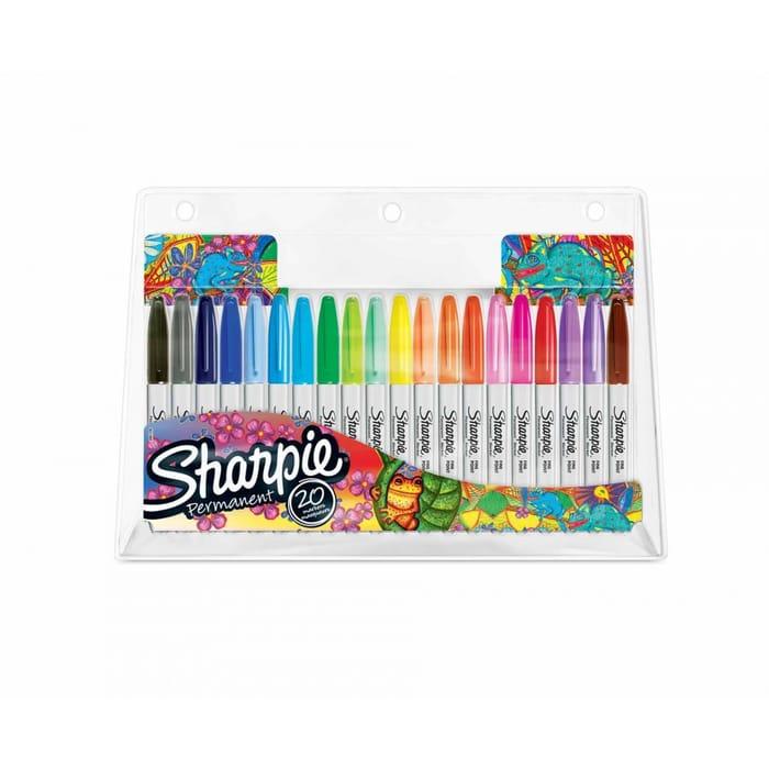 20 Assorted Sharpie Fine Marker Pens