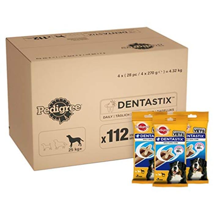 Pedigree DentaStix Daily Dental Chews for Large Dogs 25 Kg+ Save 42%