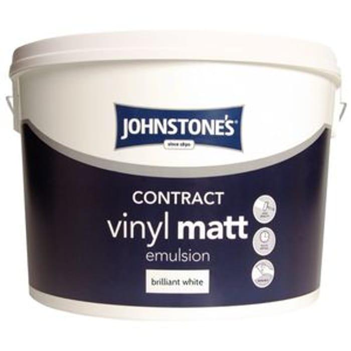 Johnstones Matt Brilliant White 5lt - Half Price