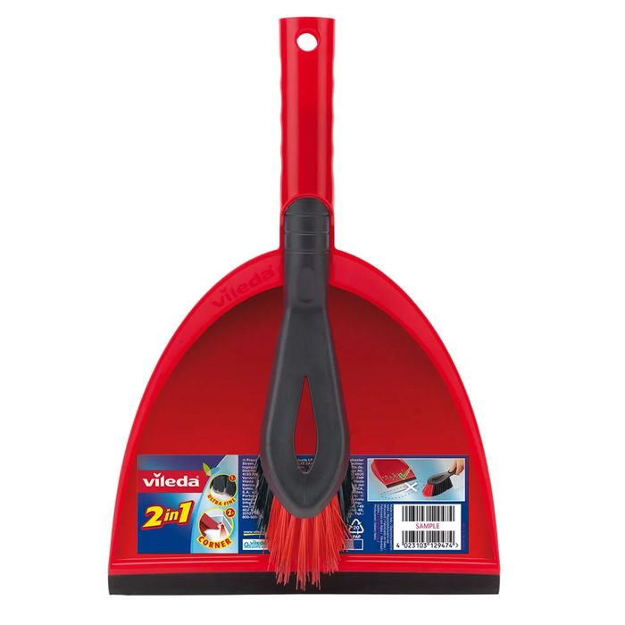 Vileda Dust Pan and Brush Set Red - £1 Off!