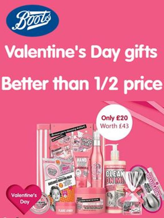 BETTER than HALF PRICE VALENTINE'S DAY GIFTS at BOOTS!