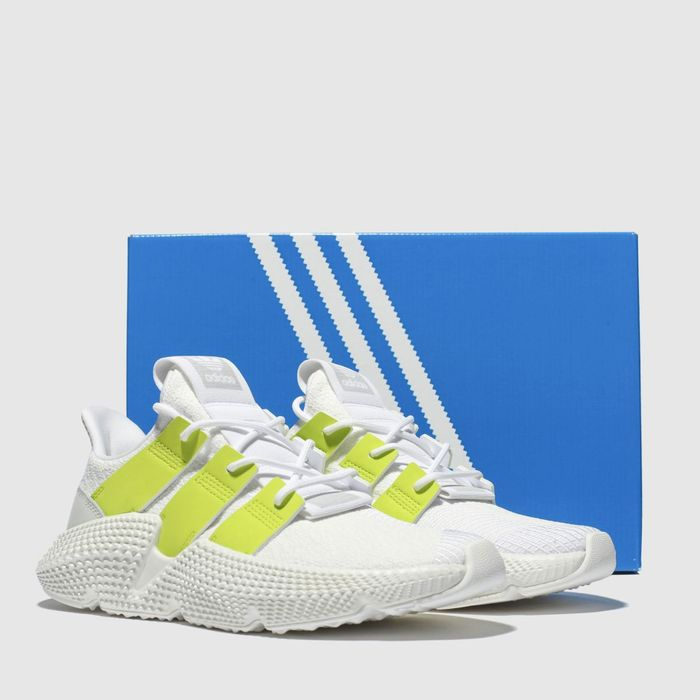 Adidas White & Green Womens Prophere Trainers Sizes 4/5/6