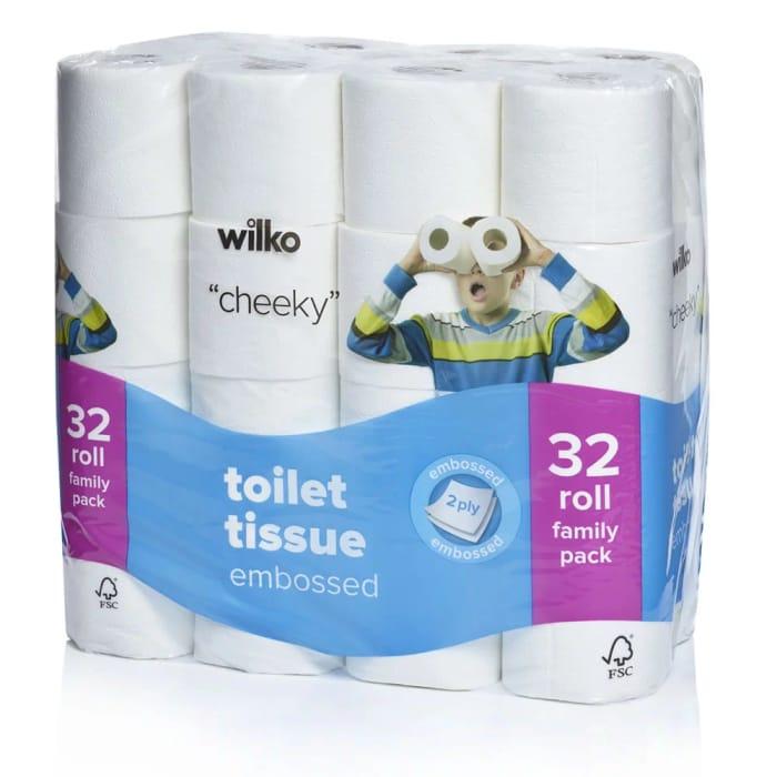 Wilko Embossed Toilet Tissue 32pk