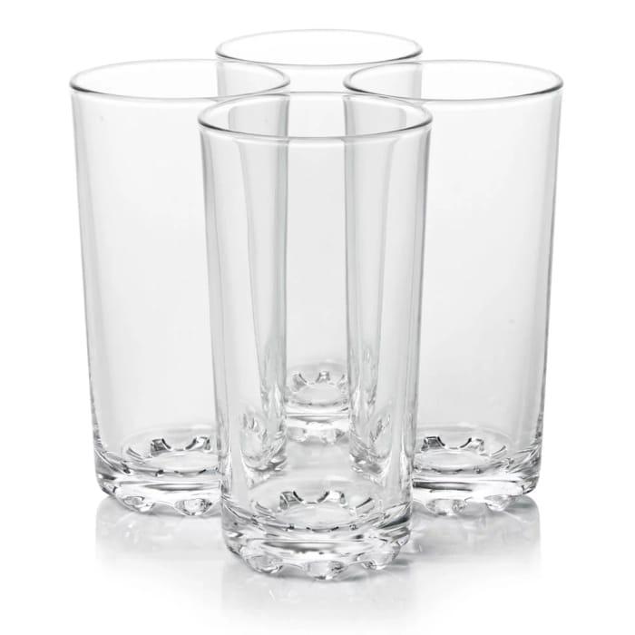 Wilko Functional Hi-Ball Glasses 4pk