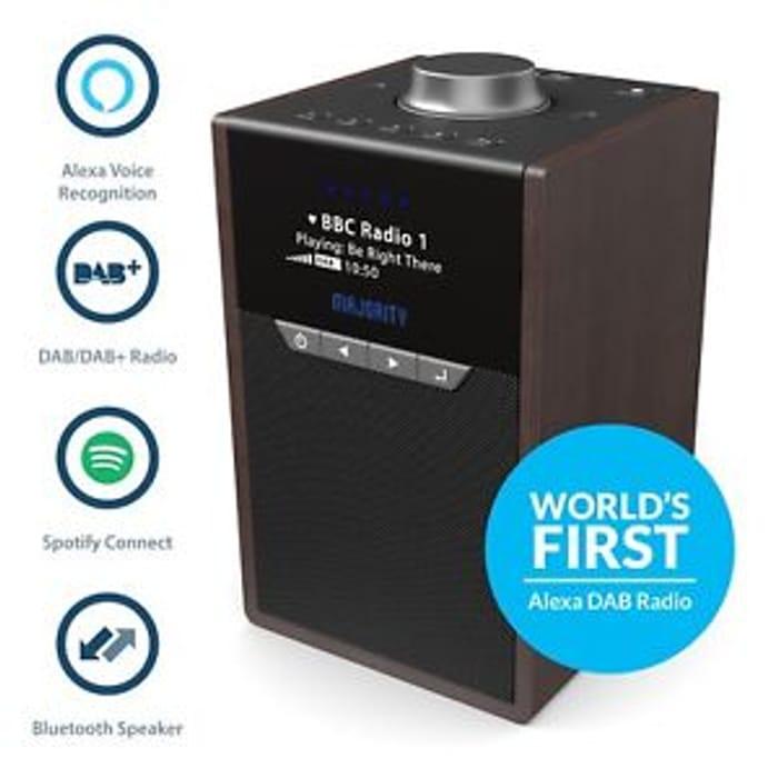 Majority Newton DAB/DAB+ Radio Spotify Connect Bluetooth Alexa Speaker