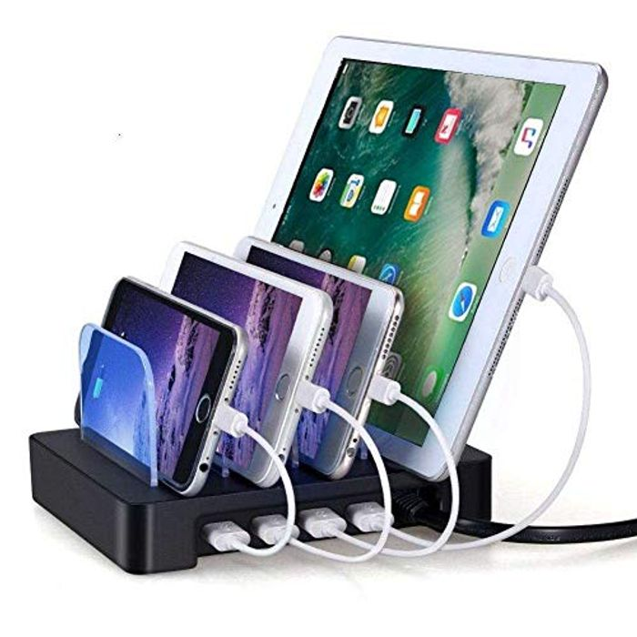 4 X USB Phone & Tablet Charging Stand