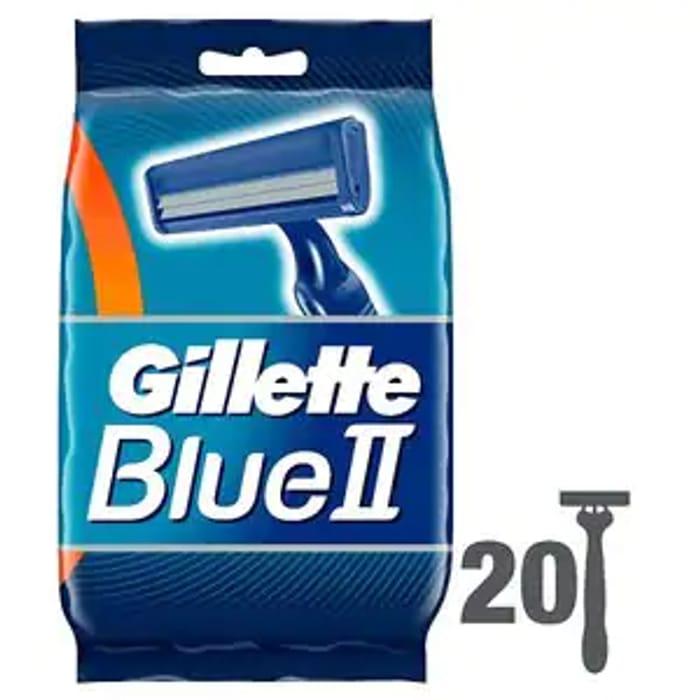 20 Pack Gillette Blue II Razors